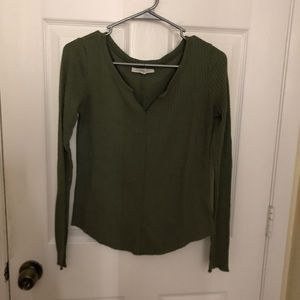 Aeropostale - Olive Green Long Sleeve Top